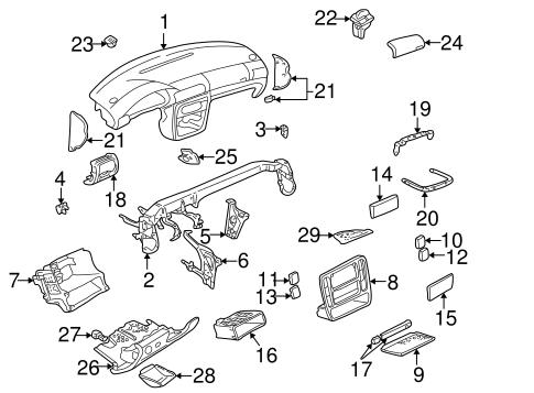 Instrument Panel For 2002 Volkswagen Passat