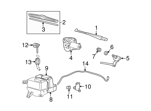 Wiper Washer Components For 2009 Mazda B2300