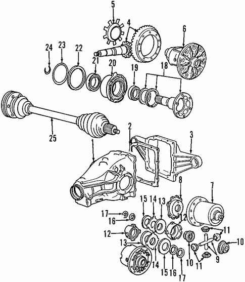 Differential For 1997 Bmw 318is