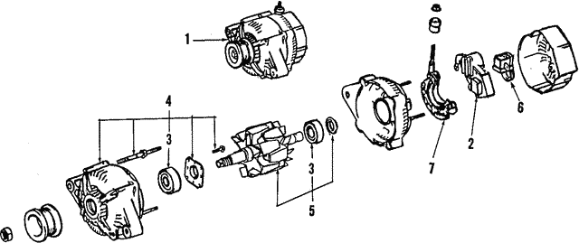Alternator - Toyota (27020-64080-84)
