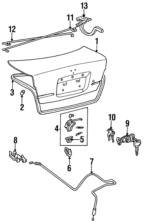 Trunk For 1997 Toyota Tercel