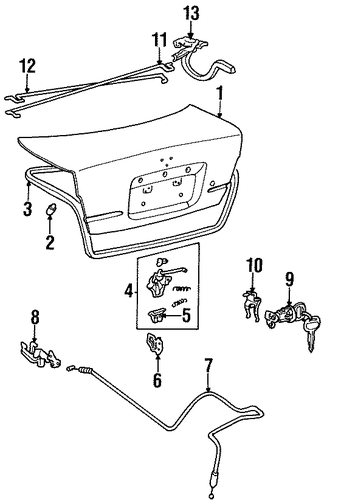 BODY/LID & COMPONENTS for 1996 Toyota Tercel #1