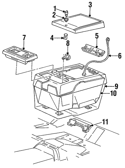 Console 1984 Chevrolet K5 Blazer Oem New Gm Parts