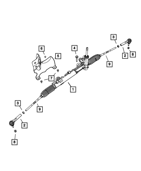 Steering Gear for 2016 Dodge Journey #0