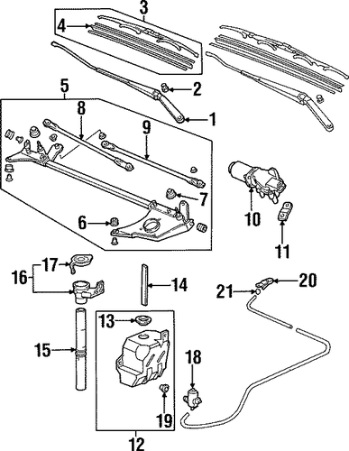 Blade, Windshield Wiper (475MM) (Passenger Side)