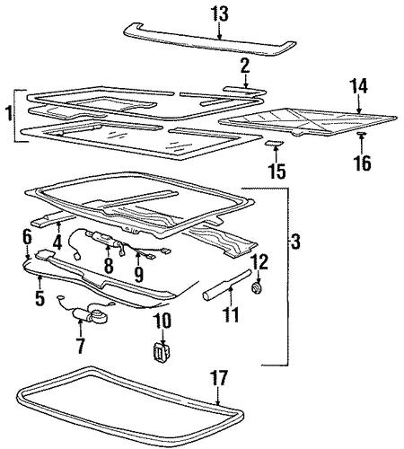 oem sunroof for 1997 oldsmobile achieva. Black Bedroom Furniture Sets. Home Design Ideas