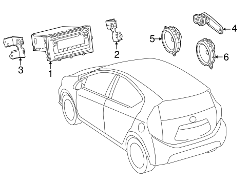 BODY/SOUND SYSTEM for 2015 Toyota Prius C #1