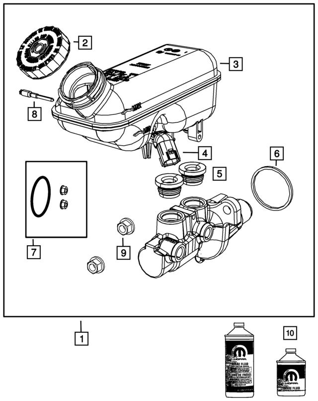 2012 2019 Mopar Brake Fluid 4318080ad