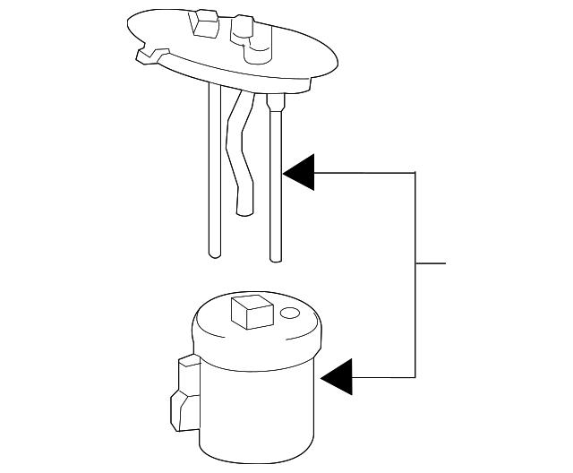 subaru baja fuel filter location
