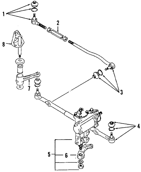 Steering Gear Linkage For 1992 Suzuki Samurai