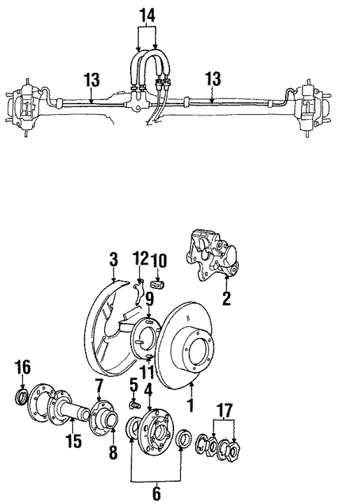 Rear Brakes For 1996 Land Rover Discovery