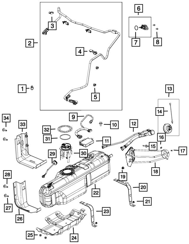 Mopar Tank Diesel Exhaust Fluid 52029760af