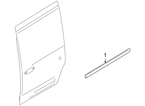 Body/Exterior Trim - Side Door for 2013 Ford Transit Connect #1
