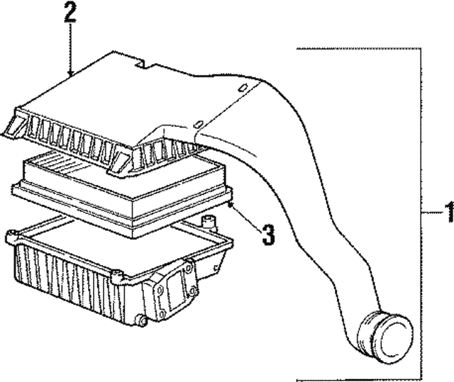 oem porsche air cleaner assembly part   951