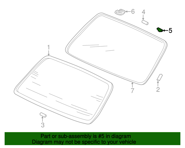 Fastener B, Windshield