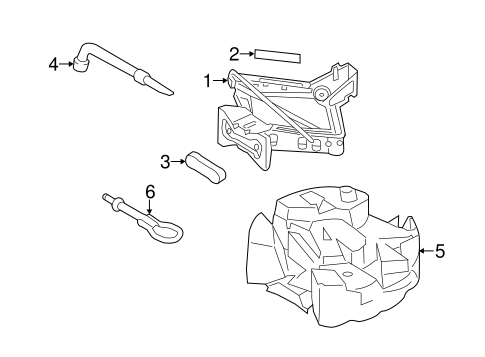 Body/Jack & Components for 2013 Ford Escape #1