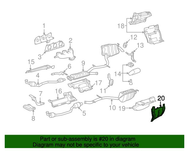 Heat shield mercedes benz 212 680 02 22 factory oem for Mercedes benz part numbers list