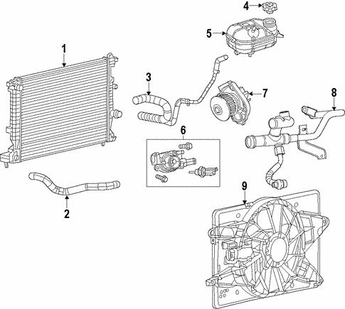 Radiator & Components for 2013 Dodge Dart   Mopar PartsMopar Parts - Mopar Online Parts