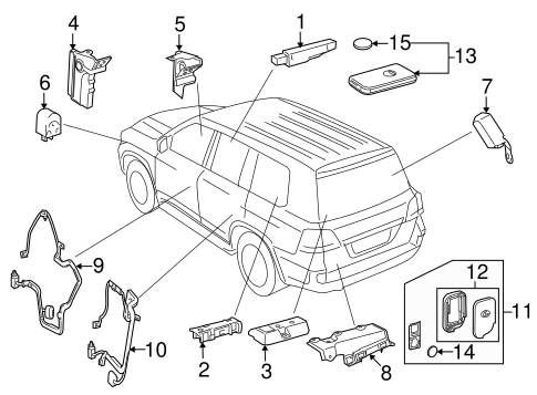 Keyless Entry Components For 2013 Lexus Lx570