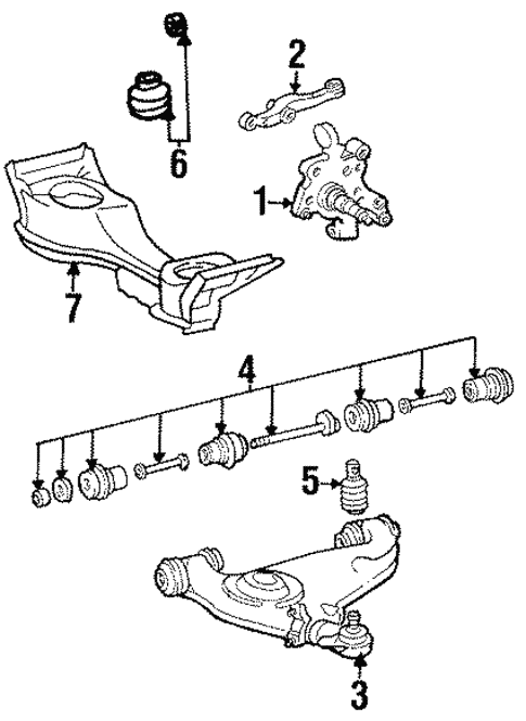 suspension components for 1990 mercedes