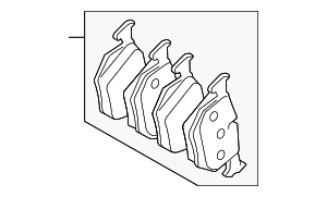 Brake Pads - Land Rover (LR055454)