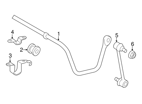 Rear Suspension/Stabilizer Bar & Components for 2015 Toyota Avalon #1