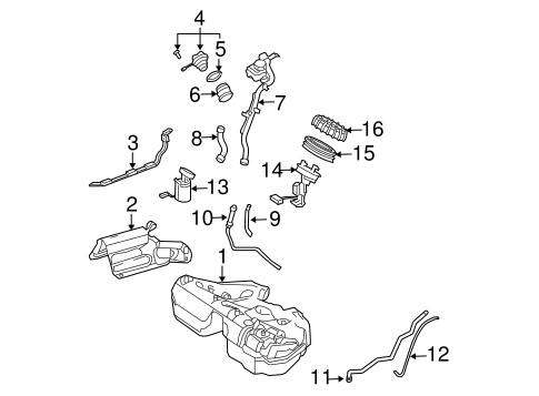 Fuel System Components for 2007 Mercedes-Benz E 320 #0