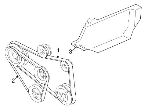 Belts Pulleys For 2001 Volkswagen Cabrio
