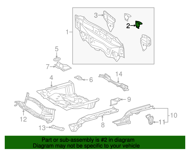 Rear Body Panel Bracket
