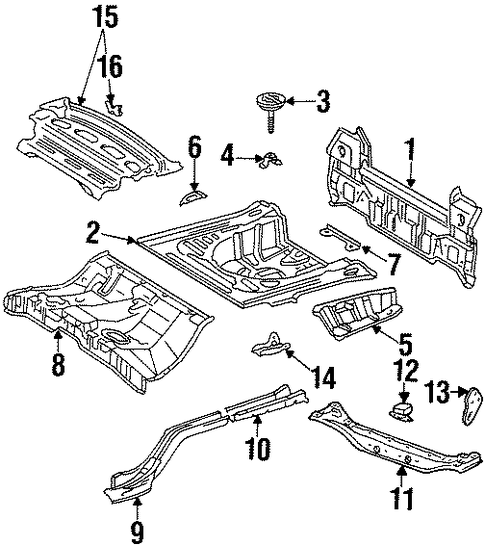 BODY/REAR BODY for 1997 Toyota Corolla #2