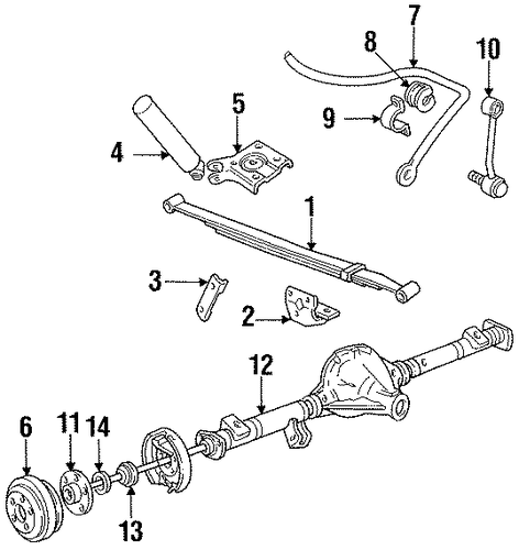 1992 Ford Rear Differential Parts : Axle housing for ford explorer village