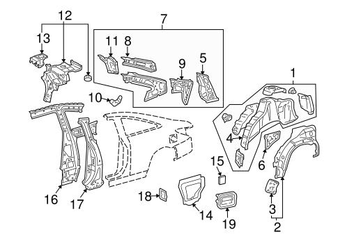 Inner Structure For 2007 Toyota Solara