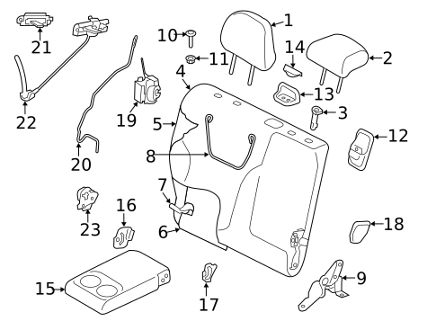 Rear Seat Components For 2019 Subaru Forester