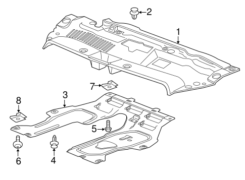 oem 2016 chevrolet trax splash shields parts. Black Bedroom Furniture Sets. Home Design Ideas