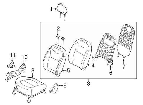 Front Seat Components For 2017 Kia Soul
