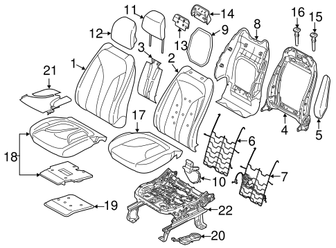 Front Seat Components For 2018 Lincoln Mkc