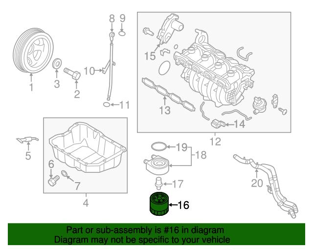 Oil Filter - Kia (26300-35504) | Kia Parts Outlet