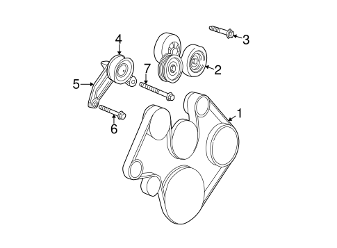 Belts Pulleys For 2007 Jeep Liberty