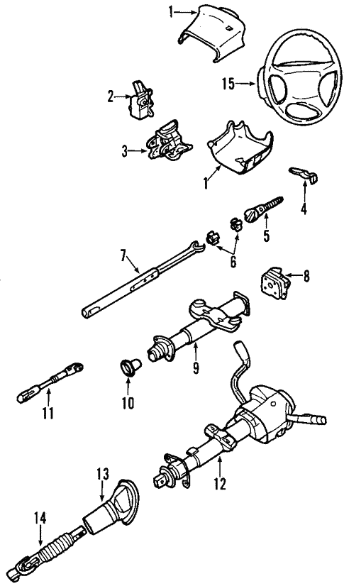 2002 silverado steering diagram