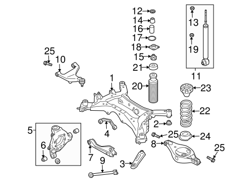 Rear Suspension/Rear Suspension for 2007 Nissan Murano #2