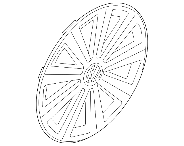 Genuine Volkswagen Wheel Cover 5g0 601 147 Yti
