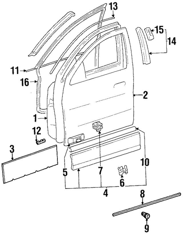 1992 1996 Mercedes Benz Belt Molding 140 690 38 80