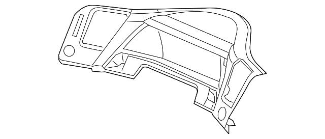 2012 Honda Visor Assembly Sub Meter Nh809l Dark Gray Satin
