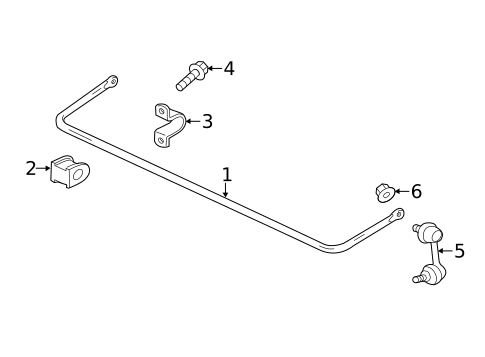 Stabilizer Bar & Components for 2019 Mitsubishi Eclipse Cross #0