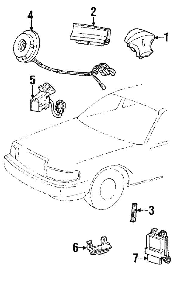 2001 Lincoln Town Car Control Module 1w1z 14b321 Ac