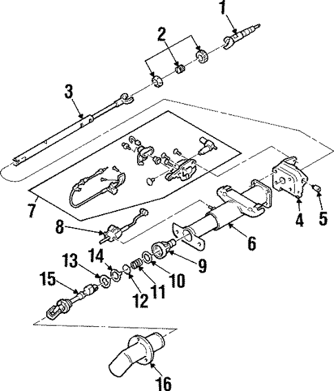 Shaft Internal Components For 1998 Pontiac Grand Prix