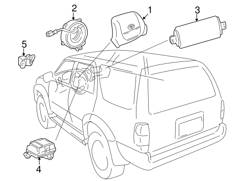 ELECTRICAL/AIR BAG COMPONENTS for 1998 Toyota 4Runner #1