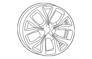 Wheel, Alloy - Mopar (1WM50JXYAA)
