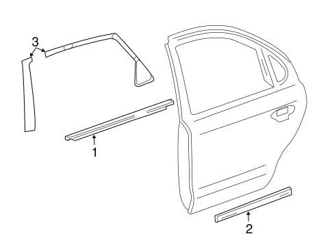 Exterior Trim - Rear Door for 2005 Mercury Montego #0
