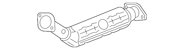 catalytic converter - mazda (l3yh-20-55x)